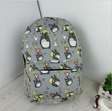 Anime My Neighbor Totoro Doraemon Backpack Canvas Bag School Bags for Boys Girls Casual Schoolbag Knapsack