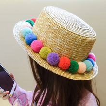 Summer Hat For Women Fashion Concise Casual Sombrero Mujer Cute Colorful  Beach Ball Breathable Travel