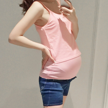 2016 new summer maternity tops clothes for pregnant women sleeveless camis tops pregnancy vest M446