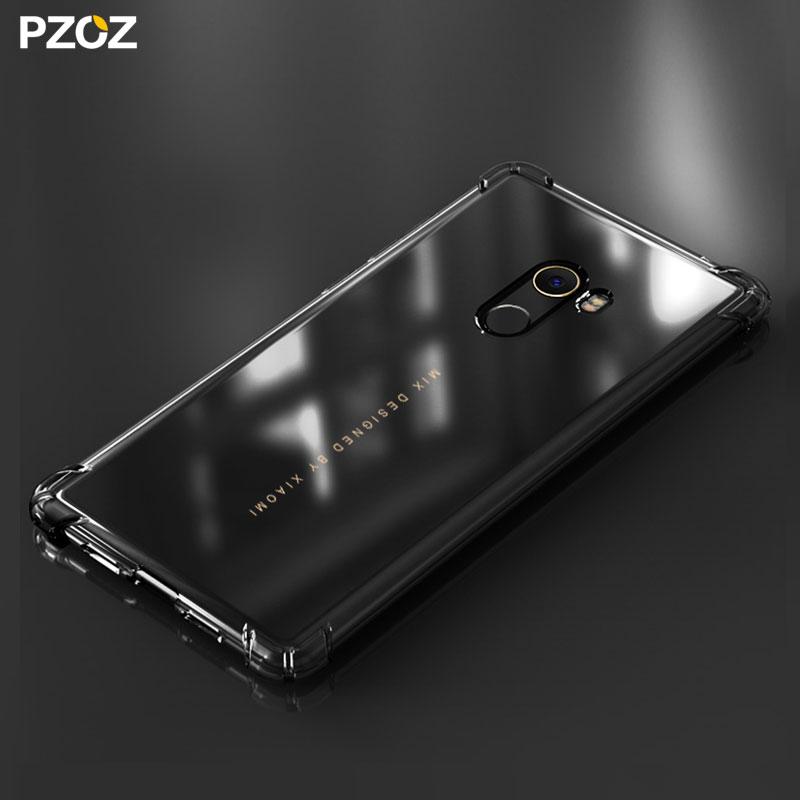 premium selection bc8c6 952f8 US $2.99 40% OFF|PZOZ For Xiaomi Mi Mix 2 Case Cover Bumper Accessories  Transparent Silicon Shockproof Housing TPU For Xiaomi Mi Mix2 Pro Case-in  ...