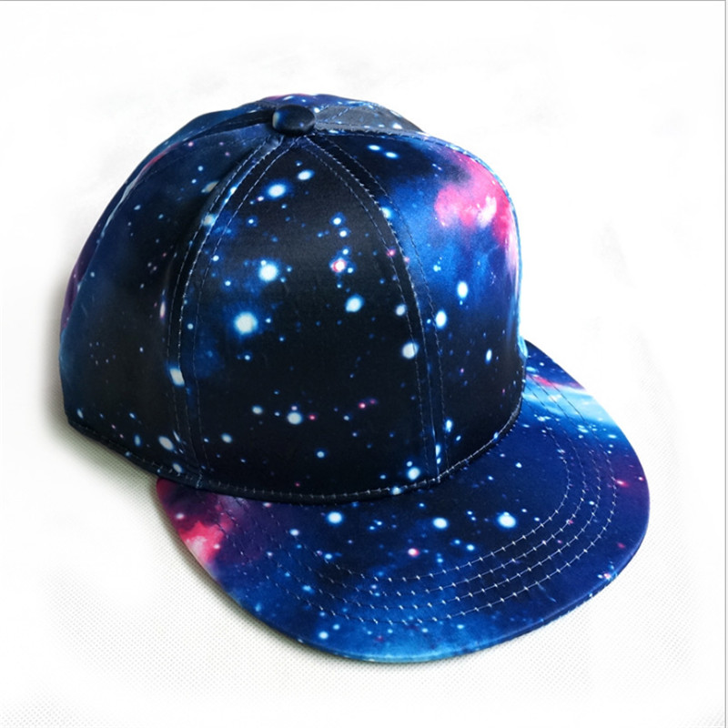 New Fashion Galaxy Hip Hop Baseball Caps Unisex Snapback Hats Casual Bone Cap For Male Females casquette de baseball Ajustable