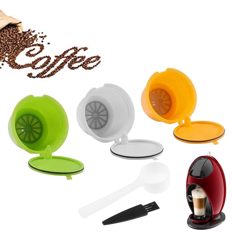 3pcs Reusable Refillable Coffee Capsules Pods Coffee Maker Pod Cup Cafeteira Coffee Filters For Nescafe Dolce Gusto Machines3pcs Reusable Refillable Coffee Capsules Pods Coffee Maker Pod Cup Cafeteira Coffee Filters For Nescafe Dolce Gusto Machines