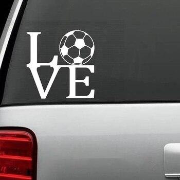 Adhesivo de amor para balón de fútbol, pegatinas bonitas y geniales, pegatinas artísticas para pintar coches, pegatinas de decoración de vinilo
