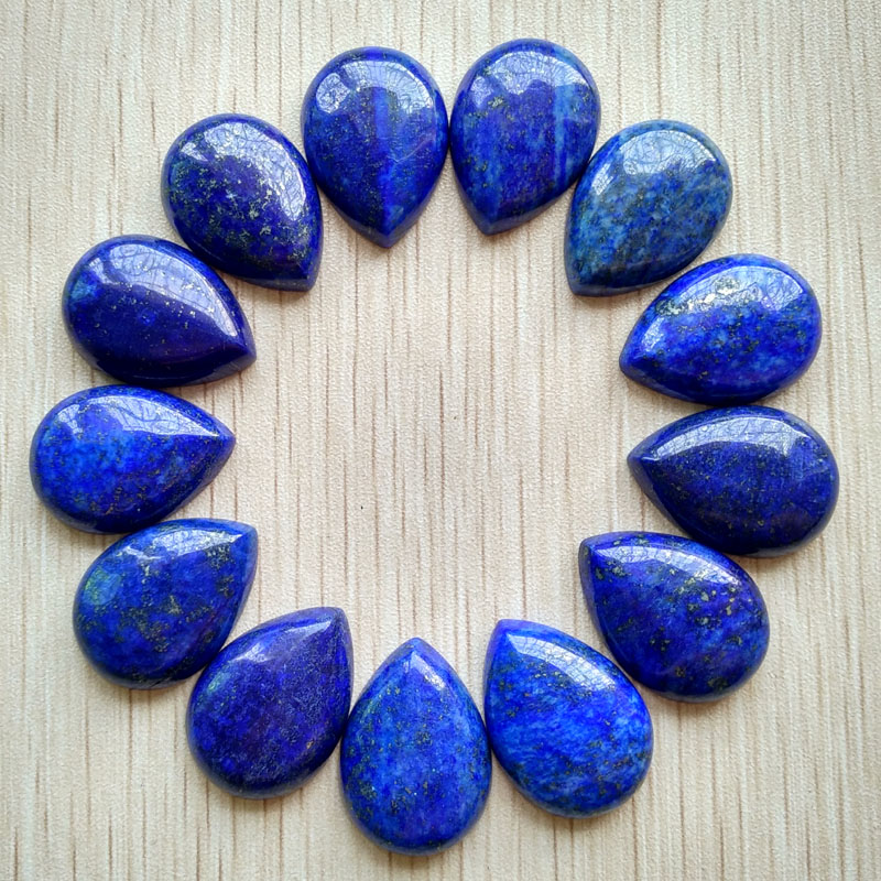 Free shipping 20pcs/lot Wholesale 25x18mm top quality natural Lapis Lazuli CAB CABOCHON teardrop beads for jewellery making free