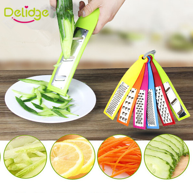 6 pcs/set Vegetable Grater Plastic +Stainless Steel Carrot  Potato Cucumber Multi Functional  Fruits Grater Machine Cutter