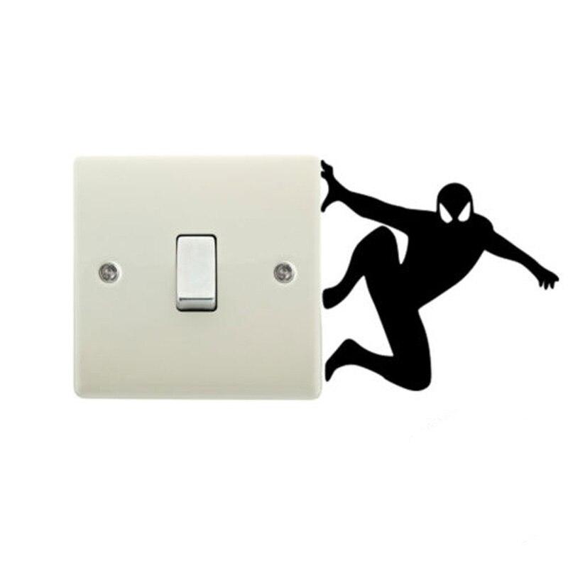Spiderman Children Room Cartoon Vinyl Wall Sticker Switch Decoration 5WS0005