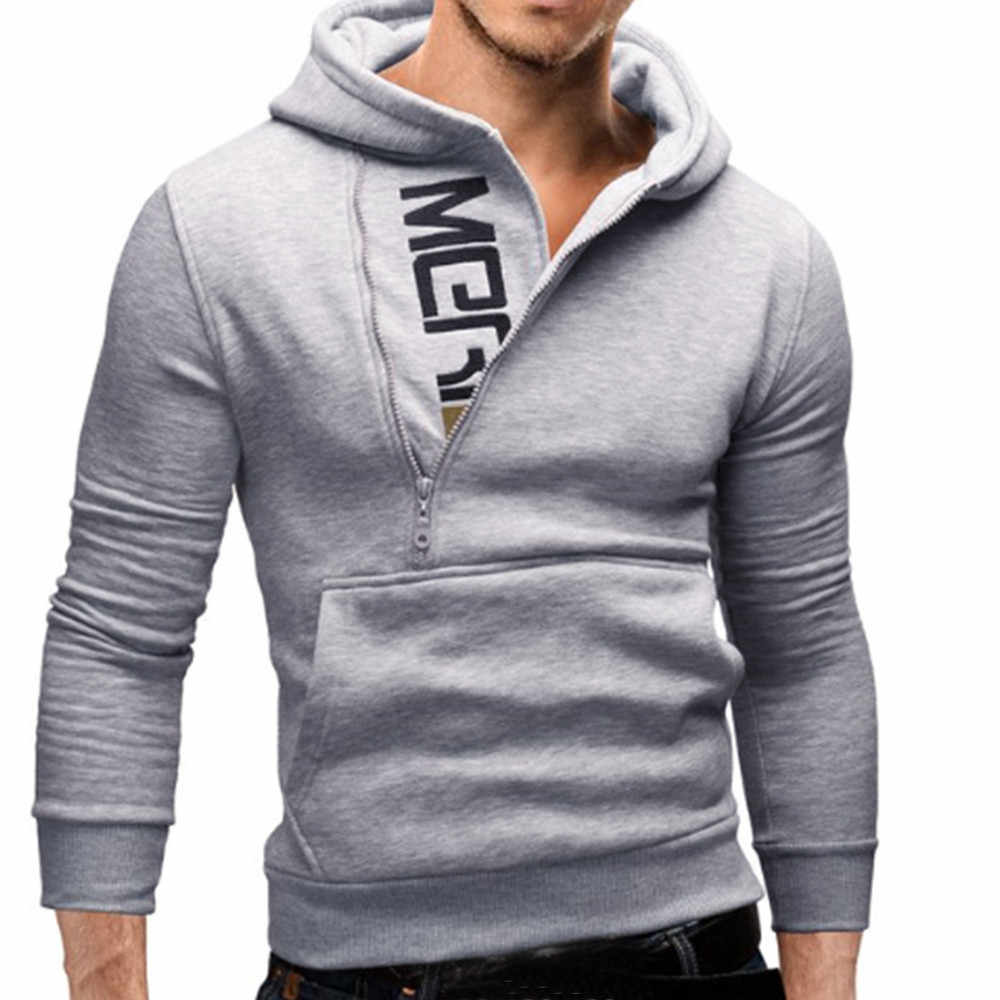 Hoodies Männer 2018 Herbst Mode Trainingsanzug Sweatshirt Männer der Winter Warm Kragen Kappe Langen Ärmeln Pullover Hoody Sport Sweatshirts