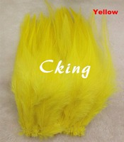Cking Feather 1kgs/lot Yellow rooster hackle Feather strungs 12 15cm Chicken Feather rolls Wholesale Party Decorations