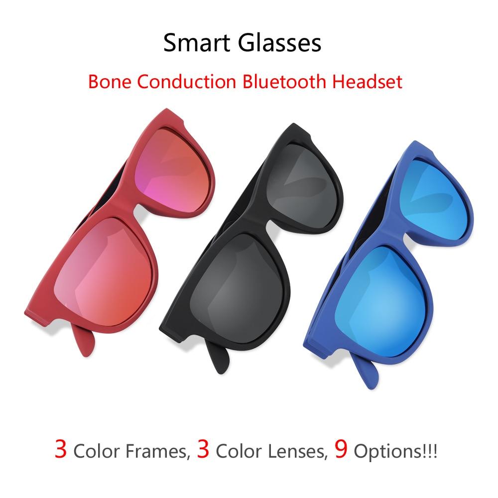 2019 G1 Polarized Bone Conduction Headset Touch Control 9 Colors Smart Sunglasses Health Sports Wireless Headphones