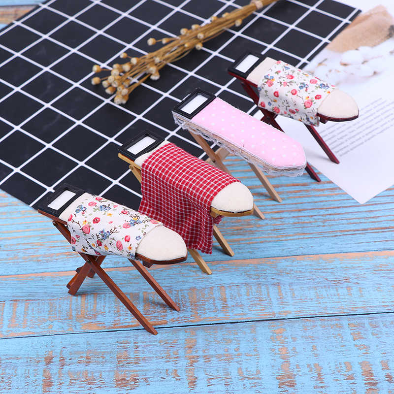 Scale 1:12 Dollhouse Miniature Ironing Board Or An Iron DollHouse Furniture Dollhouse Room Decoration Children Girls Toy Gift