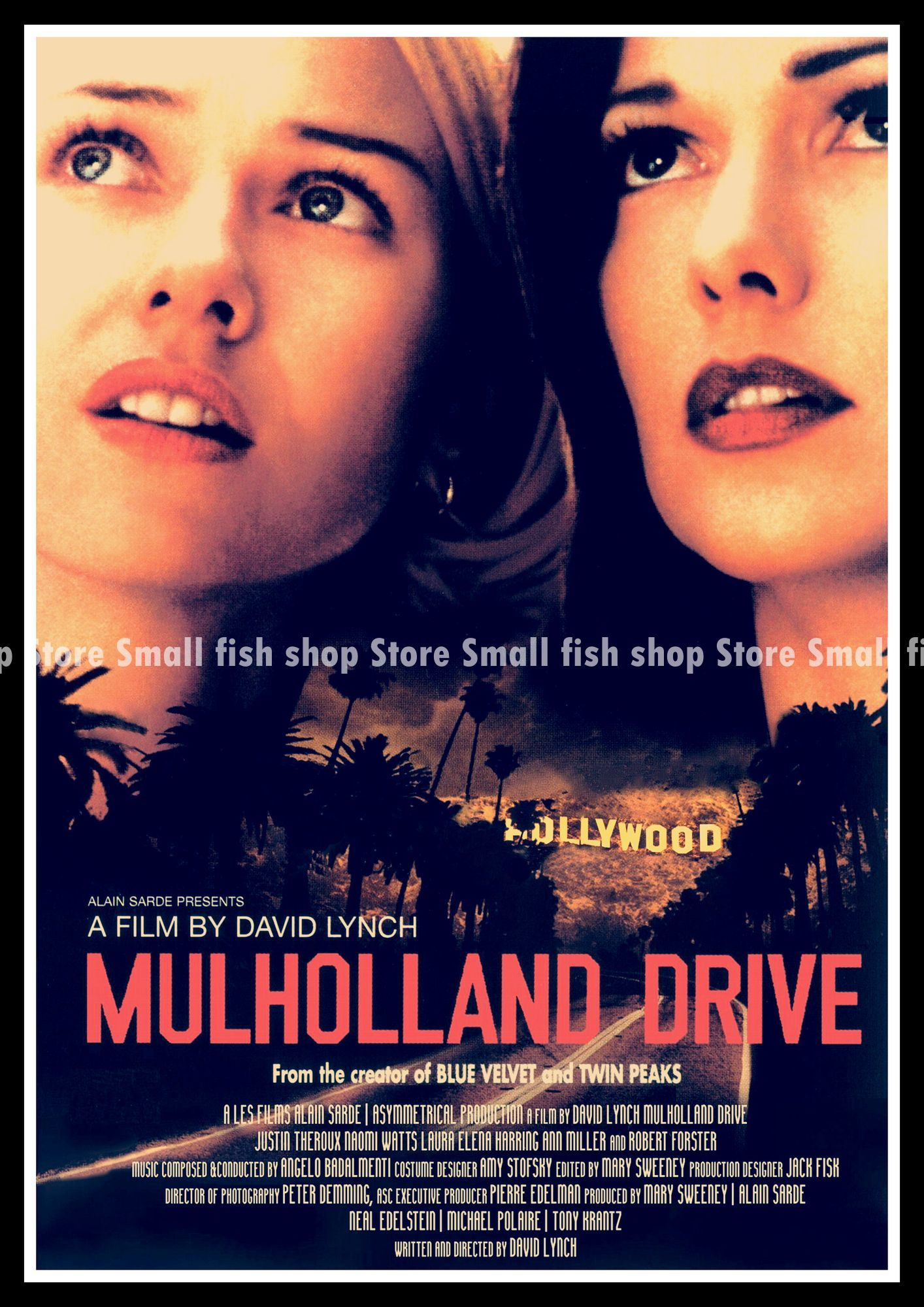 Mulholland Drive Home Furnishing decoration Kraft Movie Poster ...