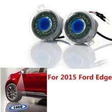2 Сторона Авто Зеркало Заднего вида Лужа Лазерный Лампы Canbus Led логотип Луч Проектора Призрак Тень Свет Для 2015 Ford Edge #6015