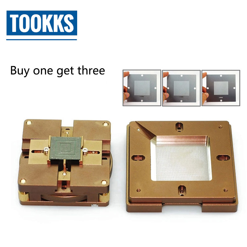 все цены на BGA Reballing Kit High Precision Position Auto Lock Multi-Sides Adjustment BGA Reballing jig For Mortherboard Chips Repair онлайн