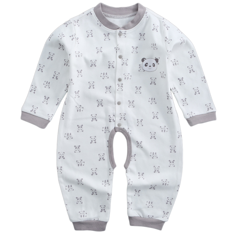 New Summer European Baby Long-sleeved Cotton Piece   Romper   Climbing Clothes Baby Boys And Girls   Romper   Sets