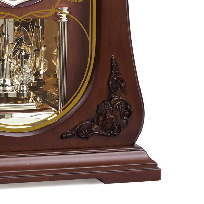 Merek baru High - end jam meja kayu, Gerakan kuarsa diam, Jam meja, - Dekorasi rumah - Foto 5