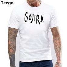 2f696823 Gojira T-shirt Men's Metal Music Cotton Black top Tees men t Shirt 2017 new  arrived man hip-hop style tshirt