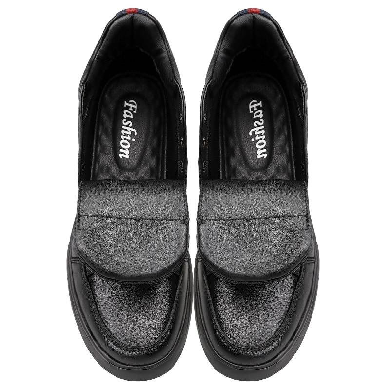 Clax No fur Zapatos Cuero Para 2019 Invierno Fur Zapato Primavera Otoño De Nieve Caliente Hombre Genuino Botas Casuales cZZTxWp