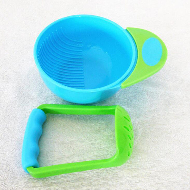 Infant Baby Manual Grinder Bowl & Mills Rod Mother Handmade Supplement Fruit Food Tableware Jucer Tool PP safe Material Dishes