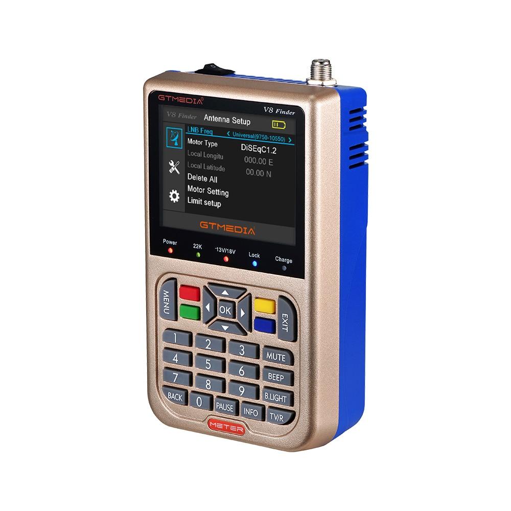 "Image 2 - GTmedia V8 Finder Meter Digital Satellite Finder HD DVB S2/S2X ACM High Definition 3.5"" LCD With 3000mAh Battery LNB Sat finder-in Satellite TV Receiver from Consumer Electronics"