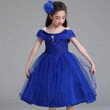 2019 Summer Girls Kids Wedding Dress Children Flower Girl Dress Evening Party Princess Costume Girl Lace Strapless Vestidos 3-12 недорого