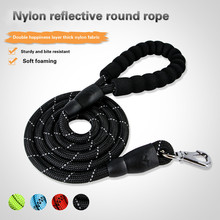 Manufacturers wholesale pet supplies dog nylon round rope reflective chain single traction