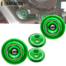 Motorcycle Accessories CNC Aluminum Frame Hole Cap Cover With Screws 5M Fairing Guard for KAWASAKI Z900 Z 900 2017 2018 цены