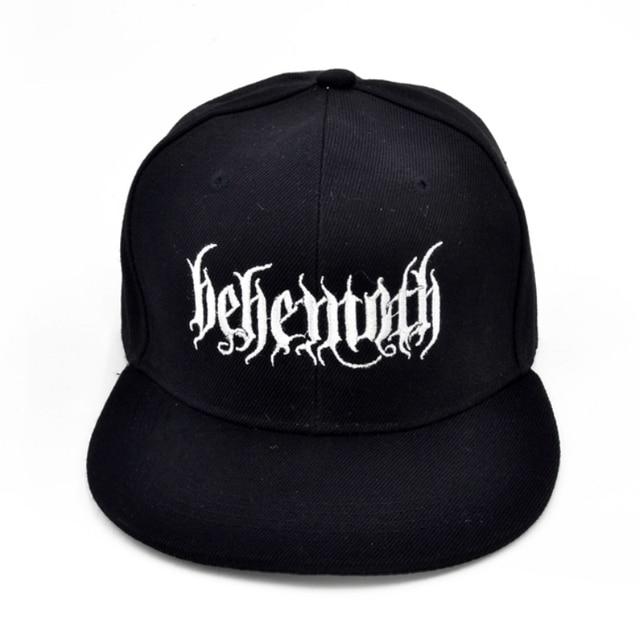 Behemoth Death Punk Rock Men s embroidery Baseball cap Poland s famous  black metal band cap aea4a332dca