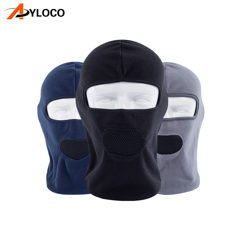 Motorcycle Face Mask Shawl Winter Thermal Fleece Cycling Mask Moto Balaclava Full Face Mask Scarf Windproof Bandana
