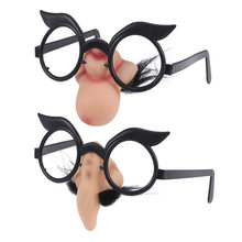 Pares De Óculos Partido Do Disfarce do Dia Das Bruxas 2 Falso Nose Clown Fancy Dress Up Traje Props Fun Party Glasses(China)