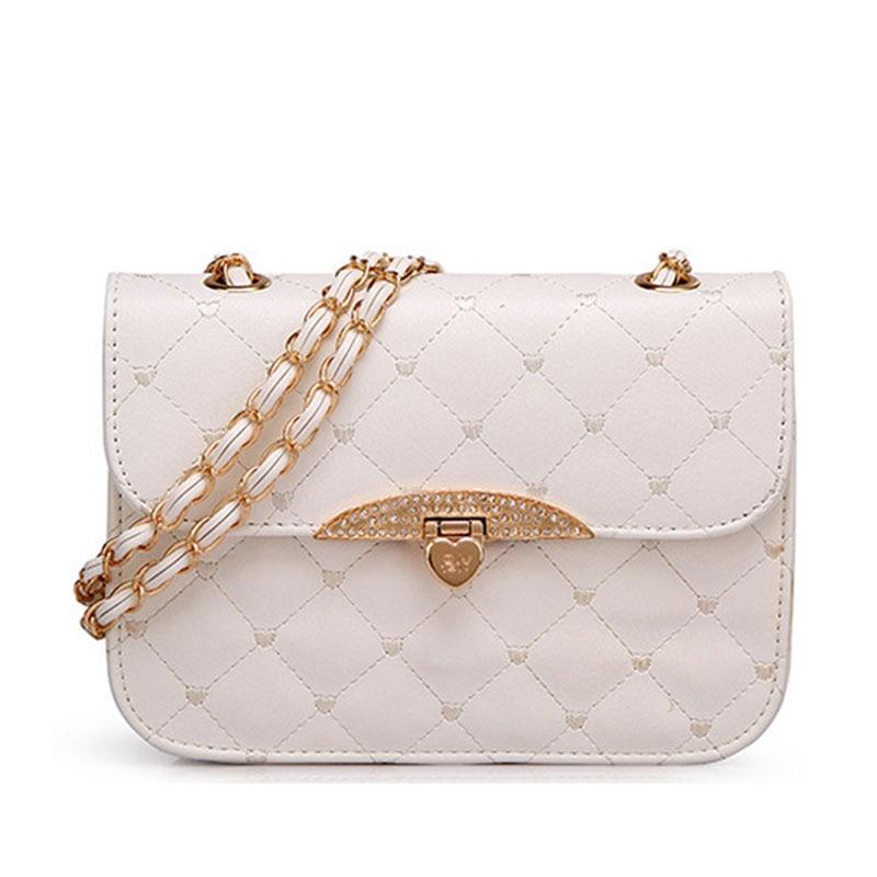 a5d031f104ce 2018 бренд Для женщин искусственная кожа небольшая сумка на плечо мода  обложка ромбовидная решетка сумка женская вечерние Клатчи сумки