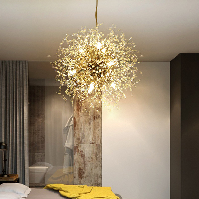 Opkmb Dandelian Pendant Lighting Modern Decorative Led Light Dinning Room Flower Lights Fixture