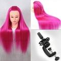 22 Hairdressing Professional Styling Head Red Yaki Hair Mannequin Head & holder Manik Dummy Hairstyles Manikin Wig Doll Heads