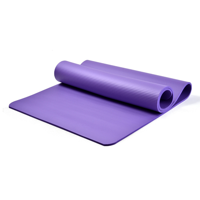 10mm Thick Non-slip TPE Yoga Mats For Fitness Gym Exercise Sports Mat Tasteless Pilates Pad Colchonete 185*60*10cm For Beginner