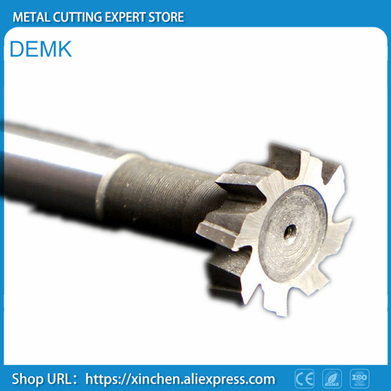 Knife Diameter 50mm Straight Shank T - Slot Milling Cutter T - Cutter Circular Slot Trapezoidal Groove Cutter Superhard HSS 18mm x 45 60 degree high quality degree hss straight shank dovetail groove slot cutter end mill 18 mm