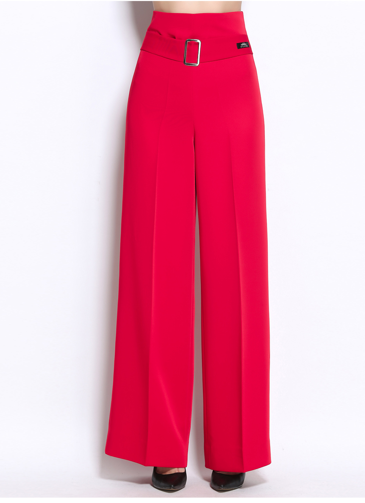 Woman's Adult Latin Dance Pants Long High Waist Broad Leg Trousers Ballroom Performance Dance Practice Clothes Flared Pants H658 15