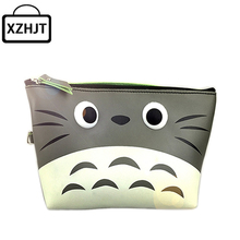Women Cartoon Totoro Cosmetic Bag 3D Printing Zipper Makeup Organizer Bag Portable Beauty Travel Waterproof Make Up Pouch