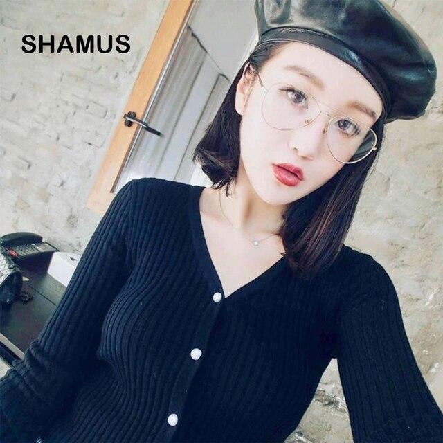 SHAMUS Super Luz Piloto Eyglasses 2017 Novo Dama Da Moda Óculos de Marca  Óculos de Armações 939541d40a