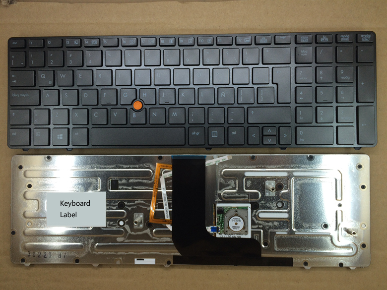 New notebook laptop keyboard for HP Probook 8560W 8570W LA/Latin layout new notebook laptop keyboard for hp mini 210 1000 210 1100 607978 161 aenm6p00130 cto br brazil layout