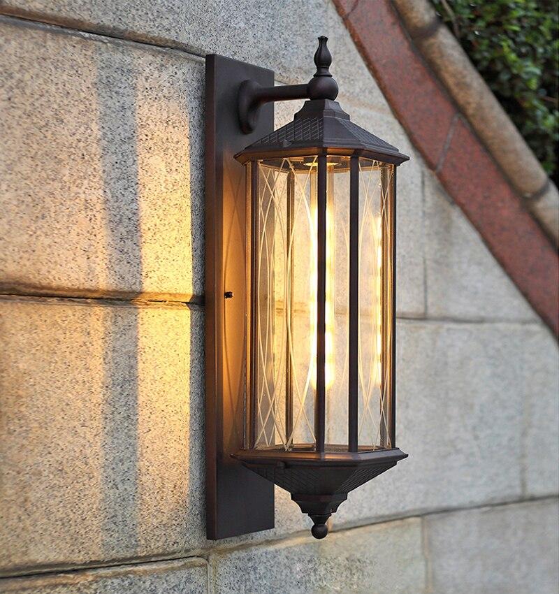 Винтаж Европейский стиль открытый настенный светильник кофе магазин вилла restaruant коридоре бра Ретро водонепроницаемый открытый свет Наруж
