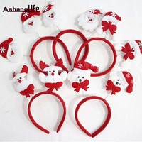 Santa Claus headband hot selling double belt lanterns deduction holiday decorations party supplies