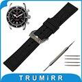 22mm 24mm Faixa De Relógio de Borracha de Silicone + Ferramenta para Breitling Esculpida Em Aço Inoxidável Pré-v Bracelete Correia de pulso Pulseira Preta