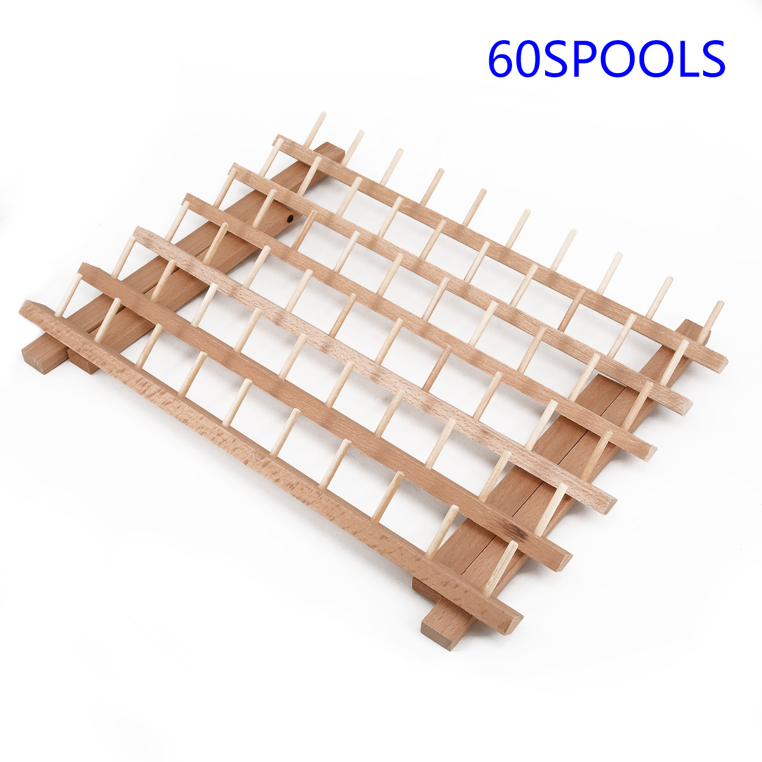 Stand Spools Rack Organizer Craft 12 60 120 Spools Tailor Cone Arranger Holder Wood Sewing Embroidery