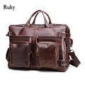 Подлинная leathe деловая сумка мужчины путешествия рюкзак 2016 моды документ реальная кожа мужчина офис мешок дизайнер