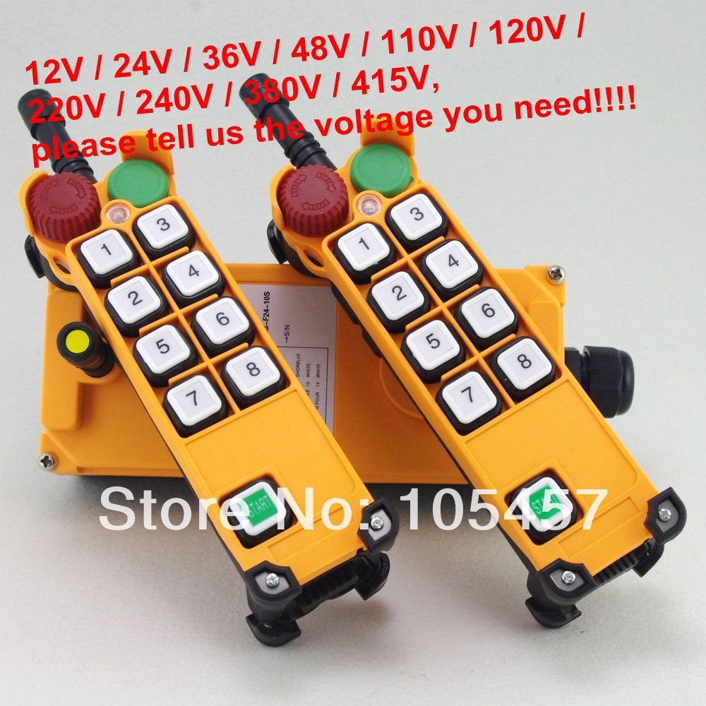 цена на 4 Motion 1 Speed 2 transmitters Hoist Crane Truck Radio Remote Control System with E-Stop Tell us the voltage you need