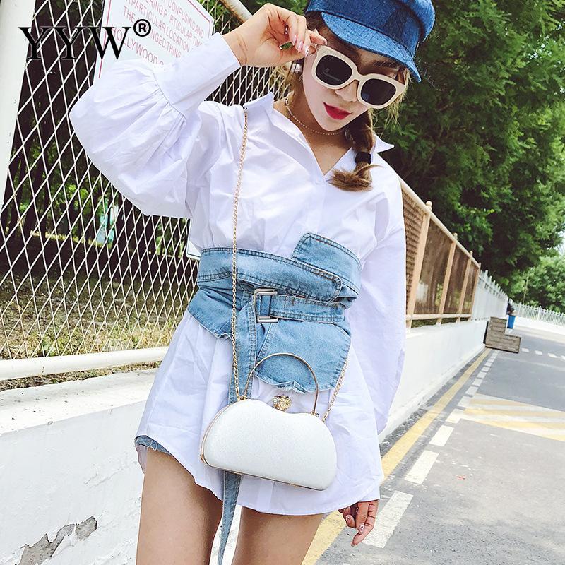 Mode Mini petite pochette femmes sac à bandoulière avec chaîne soirée pochettes sac à main en or blanc sac à bandoulière femme fête - 3