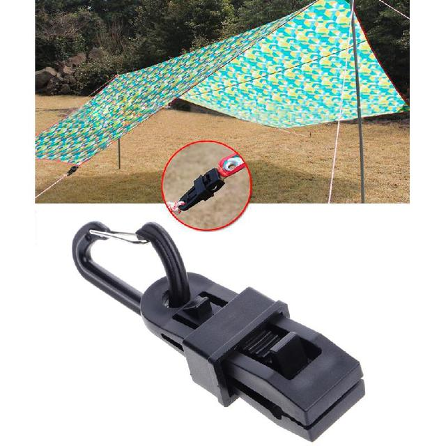 Camping Awning Tarp Clips Clamp Tent Hanger Survival Emergency Snap Buckle Tool JUN13