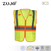Reflective Vest Safety Vest with Pockets High Visibility Reflective Tape Outdoor high visibility reflective safety vest reflective vest multi pockets workwear safety waistcoat traffic warning service safety