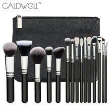 New Professional 15PCS Makeup Brushes Set Tools Make-up Toiletry Kit Make Up Brush Set Case Cosmetic Foundation Brush PU Bag
