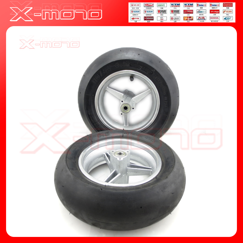 Brand new front /Rear 110/50 6.5 & 90/65 6.5 wheel &Vacuum tyre for 2 stoke mini pocket bike spare parts