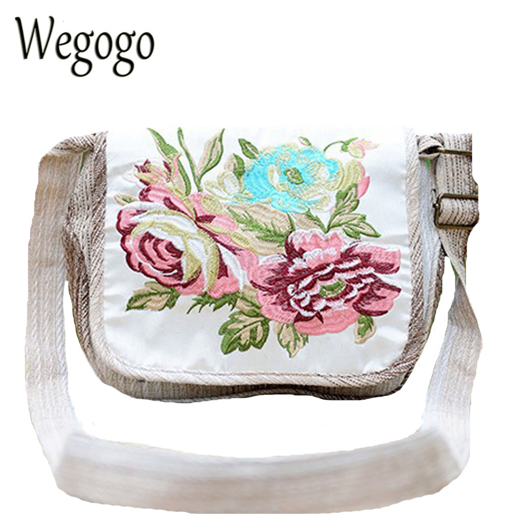 Vintage Women Handbag National Floral Embroidery Linen Single Shoulder Messenger Bag Lady Travel Tote Day Clutch Small Bag winter fashion fur evening bag for lady handbag women day clutch small tote wristlet bag messenger bag pochette shopping bag